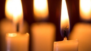 Focus on candle burning