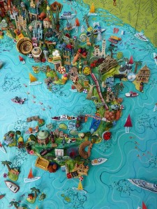 Large Detailed Map Of Italy cool 3 d map of italy sicily pinterest 600 X 800 Pixels