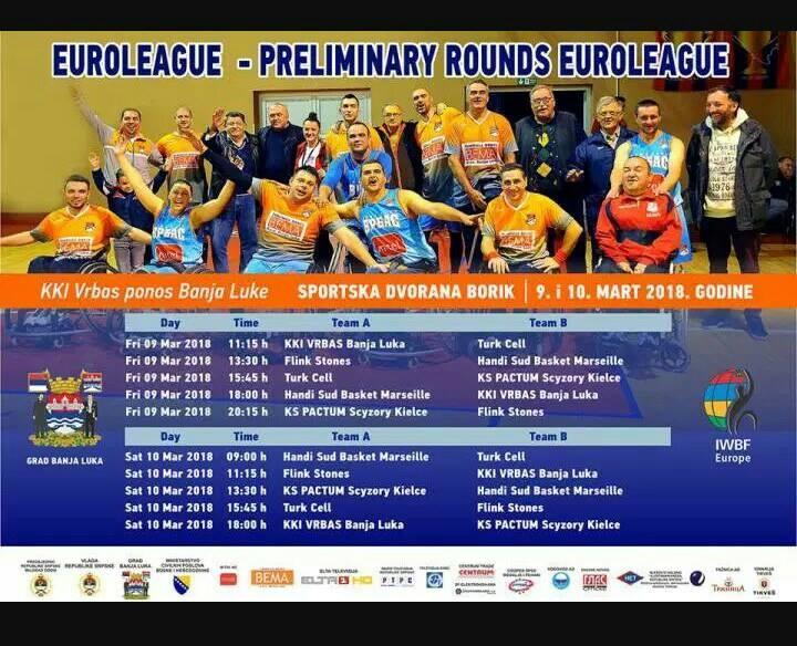 Počinje dvodnevni turnir Evrolige u košarci u kolicima