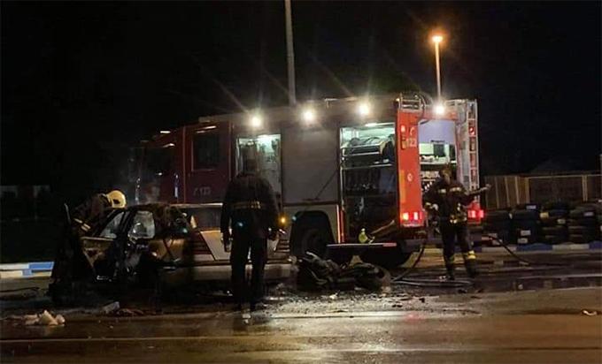 Sudar motora i mercedesa u Gradišci, povrijeđen motorista